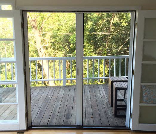 Roll-Away® Retractable French Screen Door (closed)