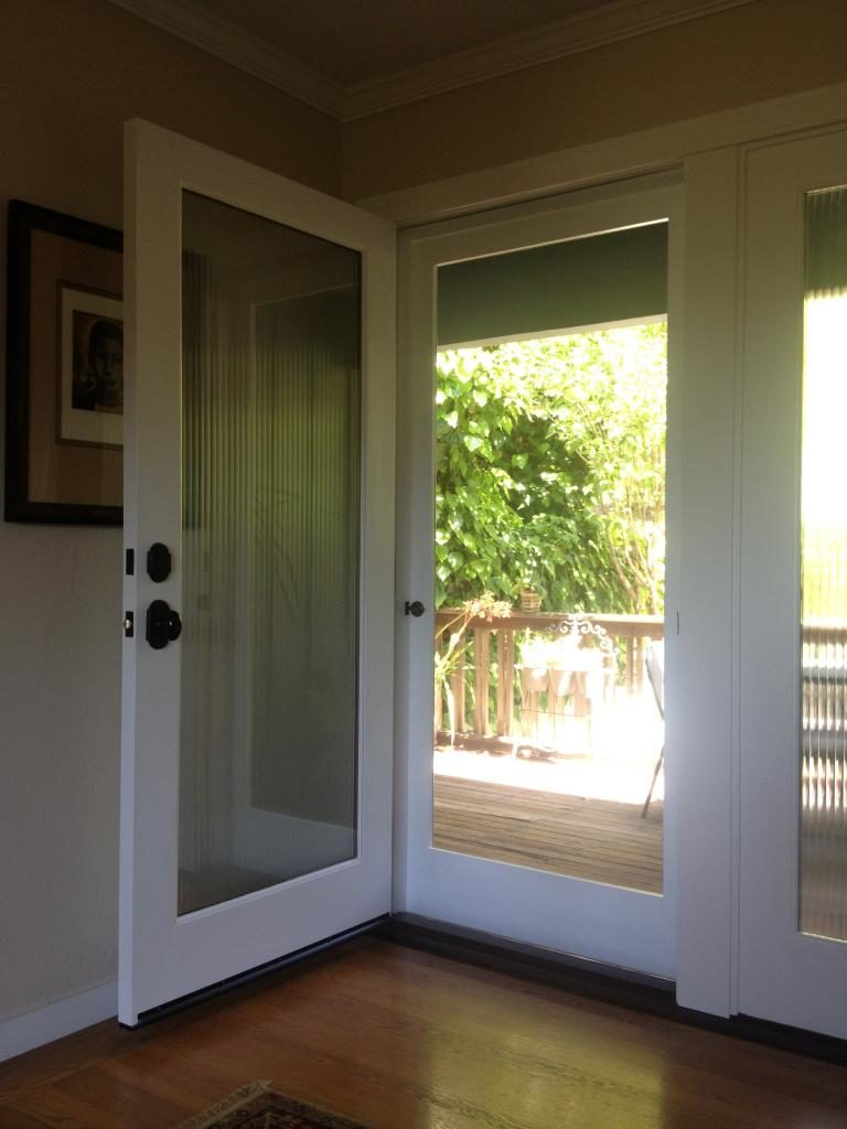 Wood Screen Door (from inside)